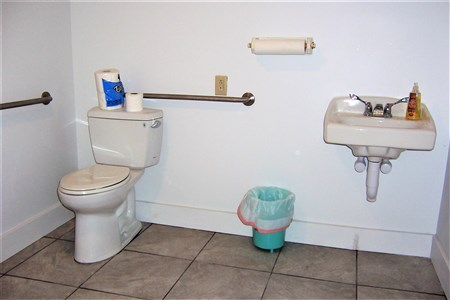 Our new, and much larger handicapped accessible bathroom!