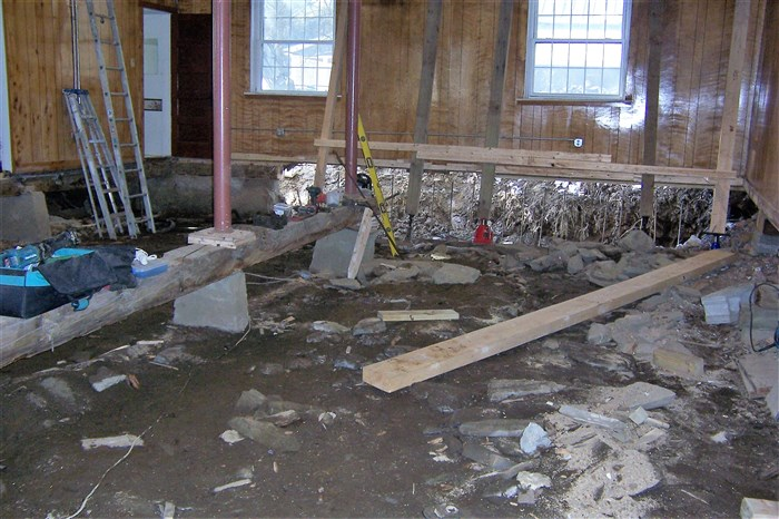 Long view of the inside of the basement look to the west side.
